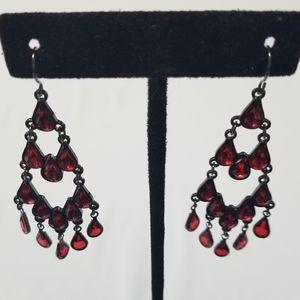 2 For 20 Red Jewel Earrings
